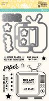 Hampton Art Jillibean Soup  Shaker Die and Stamp Set - Super Star
