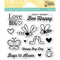 Hampton Art Jillibean Soup  Clear Stamp - Love Bug