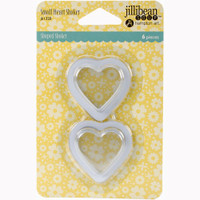 Hampton Art Jillibean Soup  Shaker 6pk - Small Heart