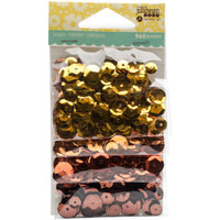 Hampton Art Jillibean Soup  Sequins 4pk - Oranges