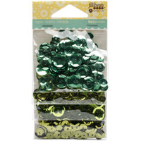 Hampton Art Jillibean Soup  Sequins 4pk - Greens