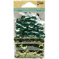 Hampton Art Jillibean Soup  Sequins 4pk - Greens