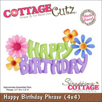 CottageCutz Die - Happy Birthday Phrase Made Easy