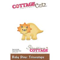 Cottagecutz Die - Baby Dino-Triceratops