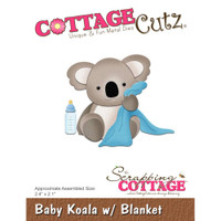 Cottagecutz Die - Baby Koala With Blanket