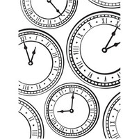 Darice A2 Embossing Folder - Clock Background