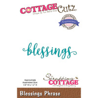 CottageCutz Expressions Plus Die - Blessings