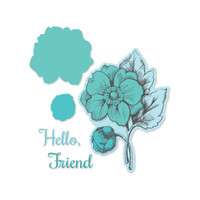 Simply Defined Dies and Stamps Set A Simple Hello Collection - Friend