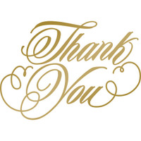 Couture Creations Anna Griffin Hotfoil Stamp: Thank You