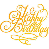 "Ultimate Crafts Classic Sentiments Hotfoil Stamp  3""X2.5"": Happy Birthday"