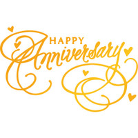"Ultimate Crafts Classic Sentiments Hotfoil Stamp  3.2""X2"": Happy Anniversary"