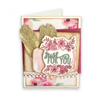 Sizzix Framelits  by Katelyn Lizardi  Die Set 6PK with Stamps - Just for You