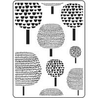 Darice A2 Embossing Folder - Dot Trees