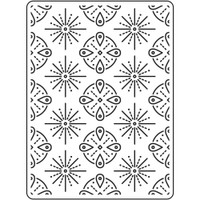 Darice A2 Embossing Folder - Tribal
