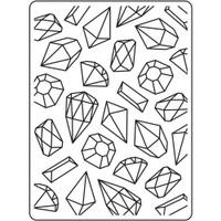Darice A2 Embossing Folder - Gems