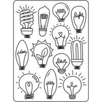 Darice A2 Embossing Folder - Light Bulbs