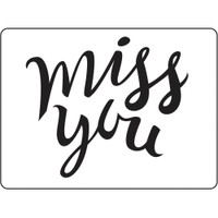 Darice A2 Embossing Folder - Miss You