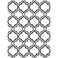 Darice A2 Embossing Folder - Quatrefoil Double