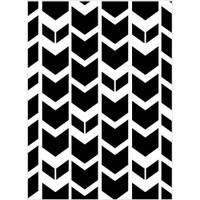 Darice A2 Embossing Folder - Tribal Chevron