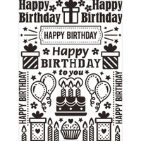 Darice A2 Embossing Folder - Birthday Collage