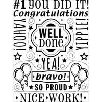 Darice A2 Embossing Folder - Congrats Collage