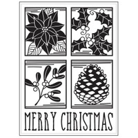 Darice A2 Embossing Folder - Christmas Square