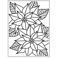 Darice A2 Embossing Folder - Mosaic Poinsettia