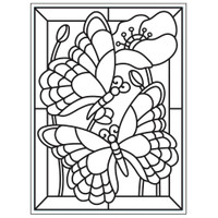 Darice A2 Embossing Folder - Mosaic Butterfly