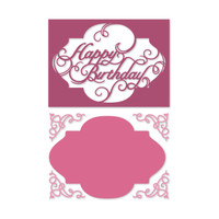 Simply Defined Dies and Stamps Set - With Sentiment Collection,Happy Birthday