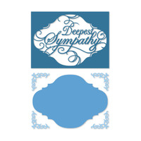 Simply Defined Dies and Stamps Set - With Sentiment Collection,Sympathy