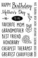 Technique Tuesday Clear Stamps 4X6 - Mom's Day
