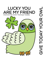 Technique Tuesday Clear Stamps 2X2.5 - Shamrock Owl