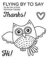 Technique Tuesday Clear Stamps 2X2.5 - Fly By Owl