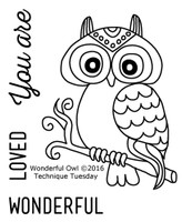 Technique Tuesday Clear Stamps 2X2.5 - Wonderful Owl