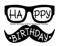 Technique Tuesday Clear Stamps 2X2.5 - Hipster Birthday