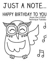 Technique Tuesday Clear Stamps 2X2.5 - Music Owl
