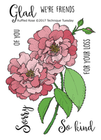 Technique Tuesday Clear Stamps 3X4 - Greenhouse Society, Ruffled Rose