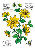Technique Tuesday Clear Stamps 3X4 - Greenhouse Society, Coreopsis