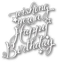 Memory Box Craft Die - Happy Birthday Elegant Script