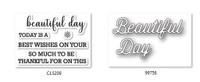 Memory Box Craft Stamps & Die Set - Perky Beautiful Day