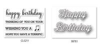 Memory Box Craft Stamps & Die Set - Perky Happy Birthday