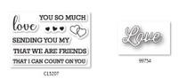 Memory Box Craft Stamps & Die Set - Perky Love