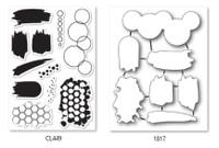 Memory Box Open Studio Stamps & Die Set - Studio Blotter
