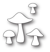 Memory PoppyStamps Die - Mushrooms and Toadstools