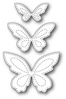 Memory PoppyStamps Die - Stitched Butterfly Trio