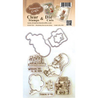 Dreamerland Crafts Clear Stamp & Die Set 4X4 - Wondering How You Are Doing