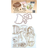 Dreamerland Crafts Clear Stamp & Die Set 4X4 - Road To Home Is Never Too Far
