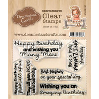 Dreamerland Crafts Clear Stamp Set 3X4 - Birthday Sentiments 01