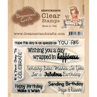Dreamerland Crafts Clear Stamp Set 3X4 - Birthday Sentiments 02