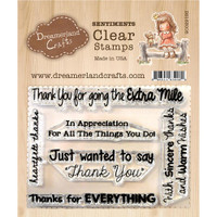 Dreamerland Crafts Clear Stamp Set 3X4 - Thank You Sentiments 02